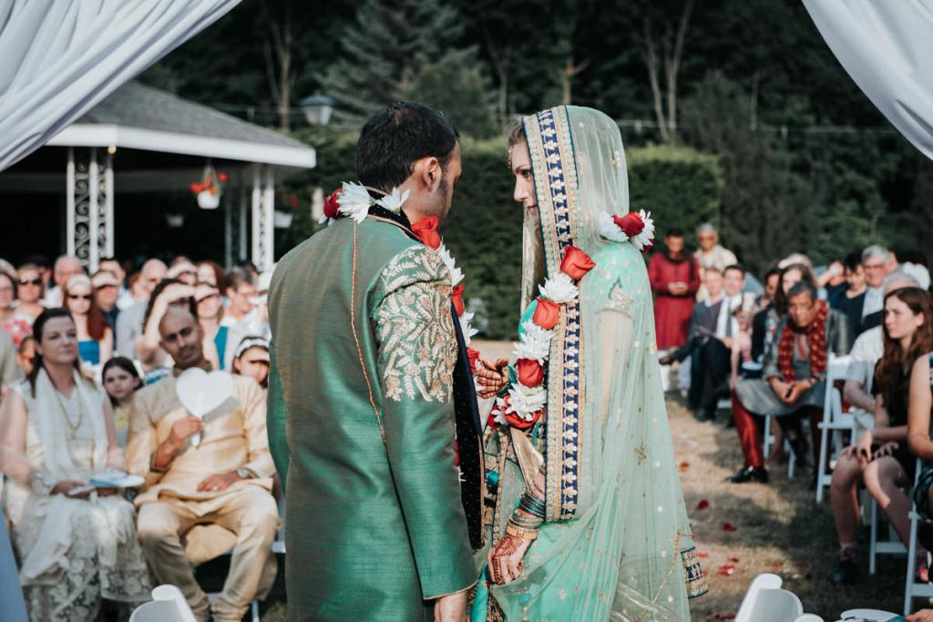 Hudson Valley Indian wedding photographer photo of bride and groom