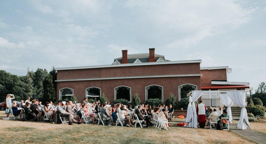 Dutchess Manor wedding ceremony in Beacon, NY