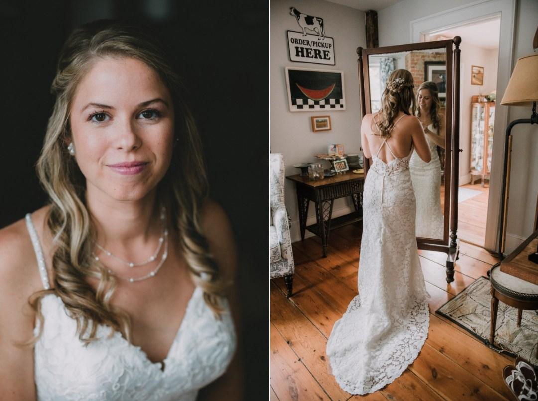 Ronnybrook Farm wedding photos of bride getting ready