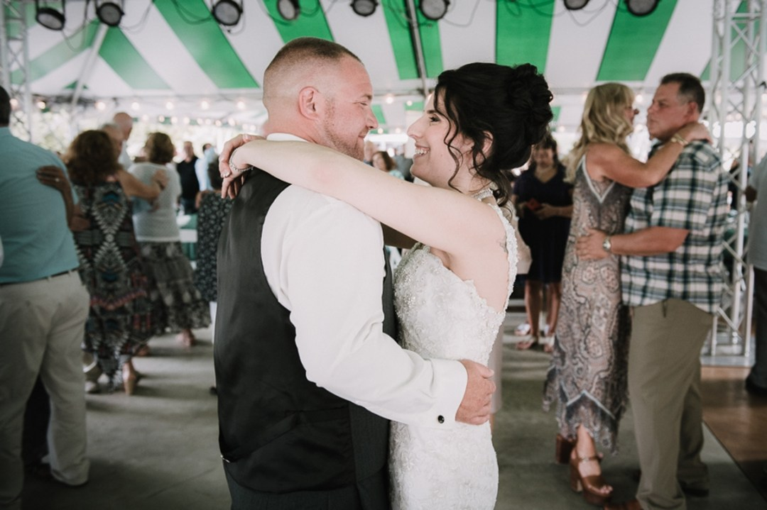 Bride and Groom's first dance at a Fishkill, NY wedding