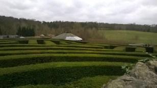 The hedge maze outside the castle