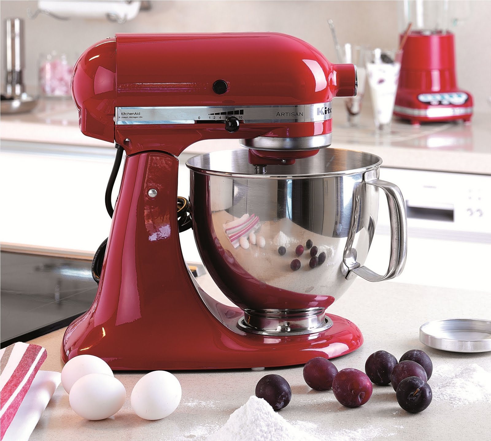 kitchen aid attachments countertop choices kitchenaid's artisan stand mixer | design corner