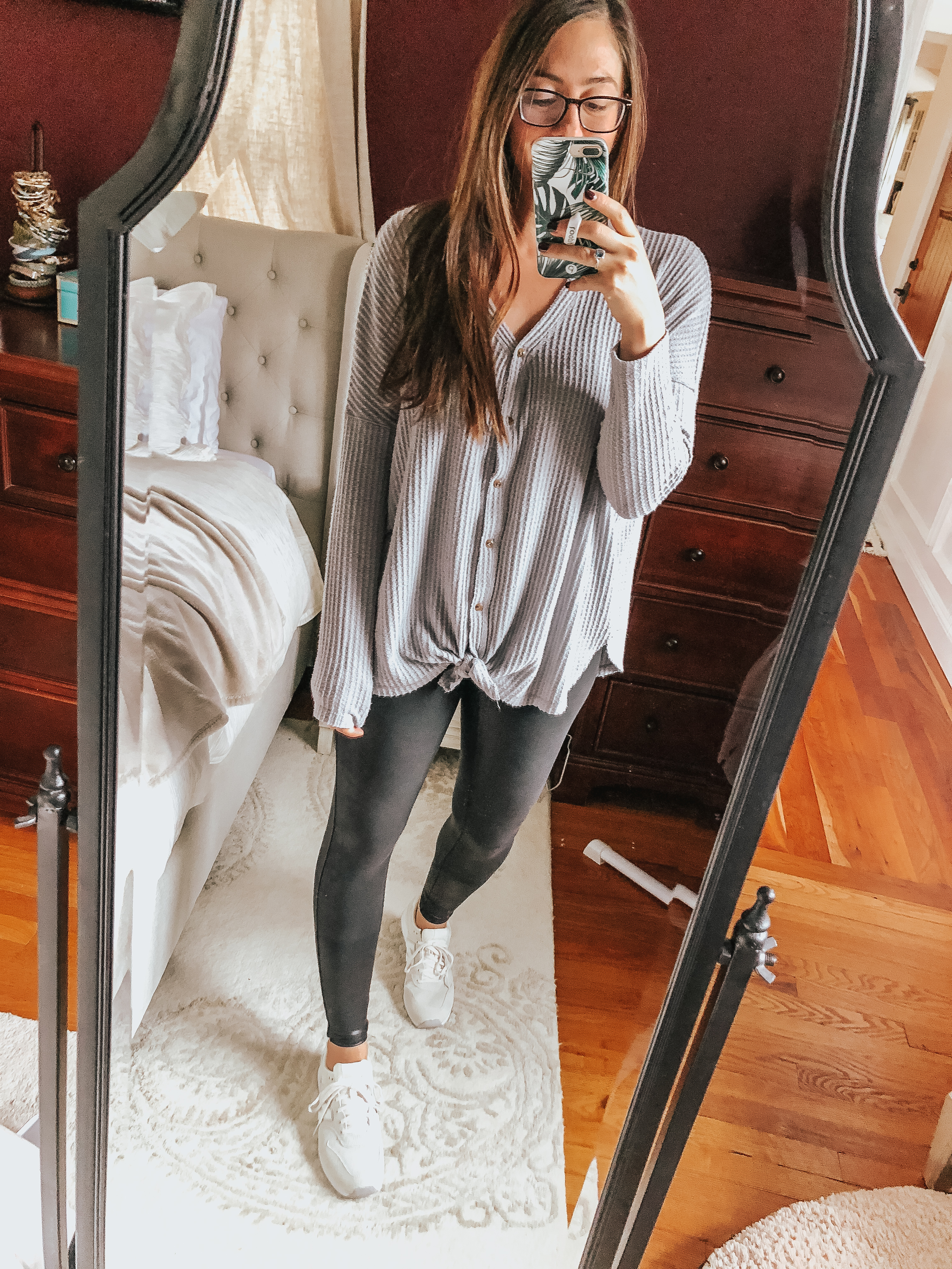 Want to start wearing Spanx faux leather leggings, but don't know how? Well, we have 5 ways to style spanx faux leather leggings! Check them out here!