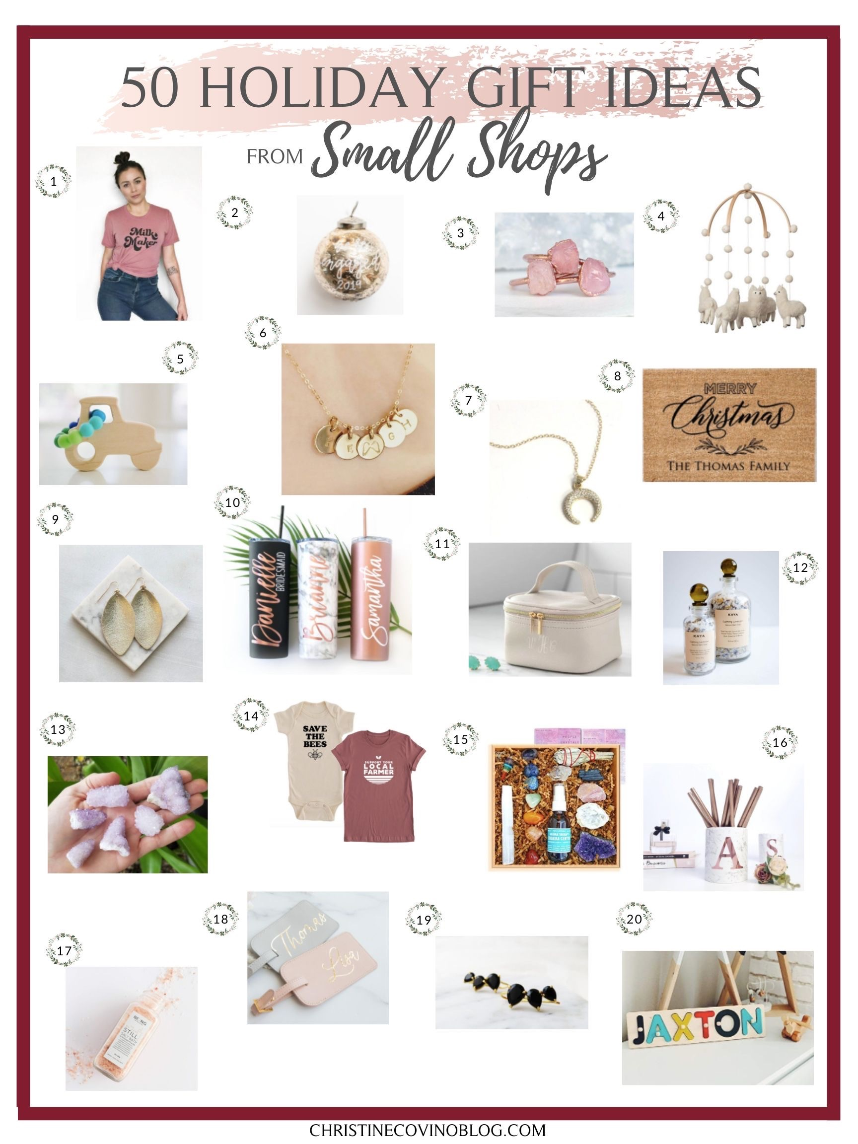 Small Shop Holiday Gift Guide- Support small businesses with this small shop holiday gift guide poster