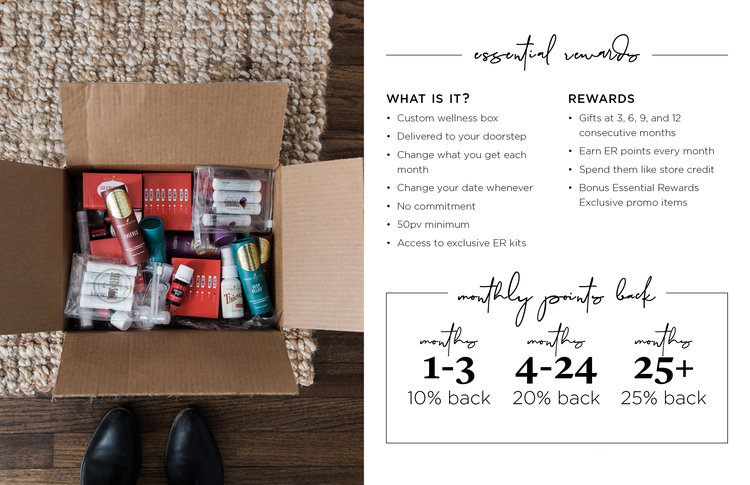box of young living products