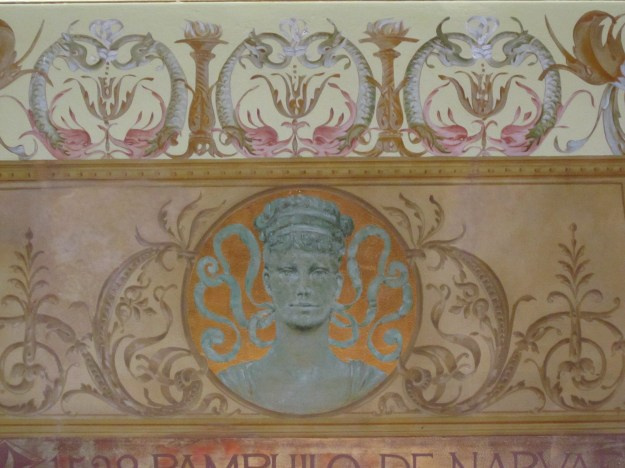 Detail of mural by George W. Maynard in the dining room at Flagler College.