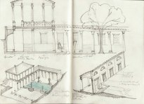 Thoughts on the design of a new peristyle and garden.