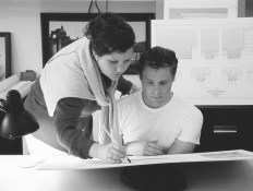 Christine G. H. Franck demonstrating rendering techniques during ICAA Summer Program