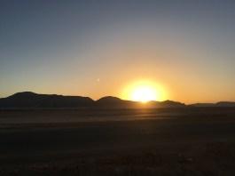Sunrise in Wadi Rum