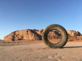 Tires in the desert