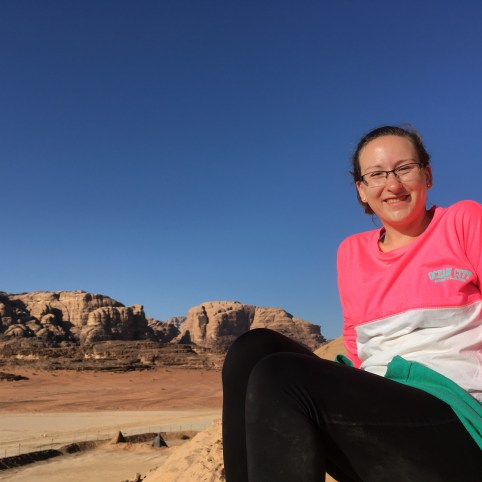 Me on top of a cliff in Wadi Rum