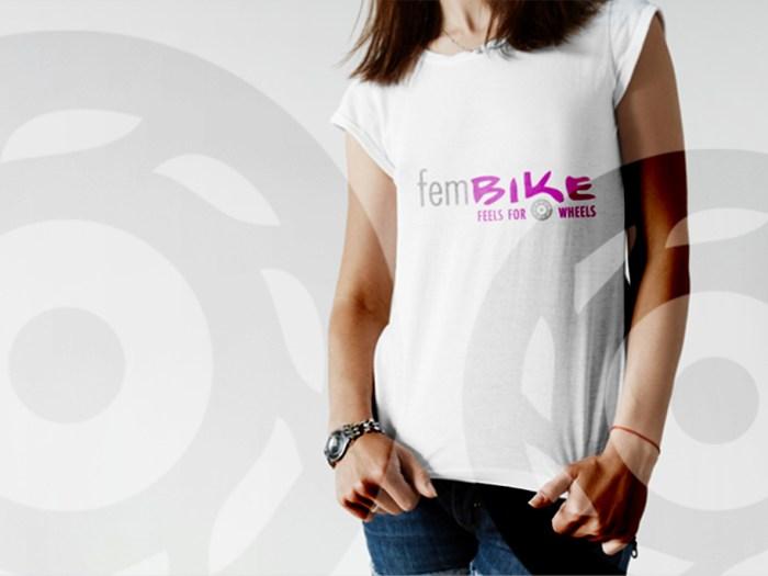 Logo für das Frauen-Motorradmagazin fembike | Design KERNgeschäft