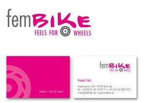 Logoentwicklung Frauen-Motorradmagazin fembike   Design KERNgeschaeft