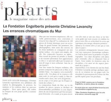 Article Pharts Magazine, juillet 2015