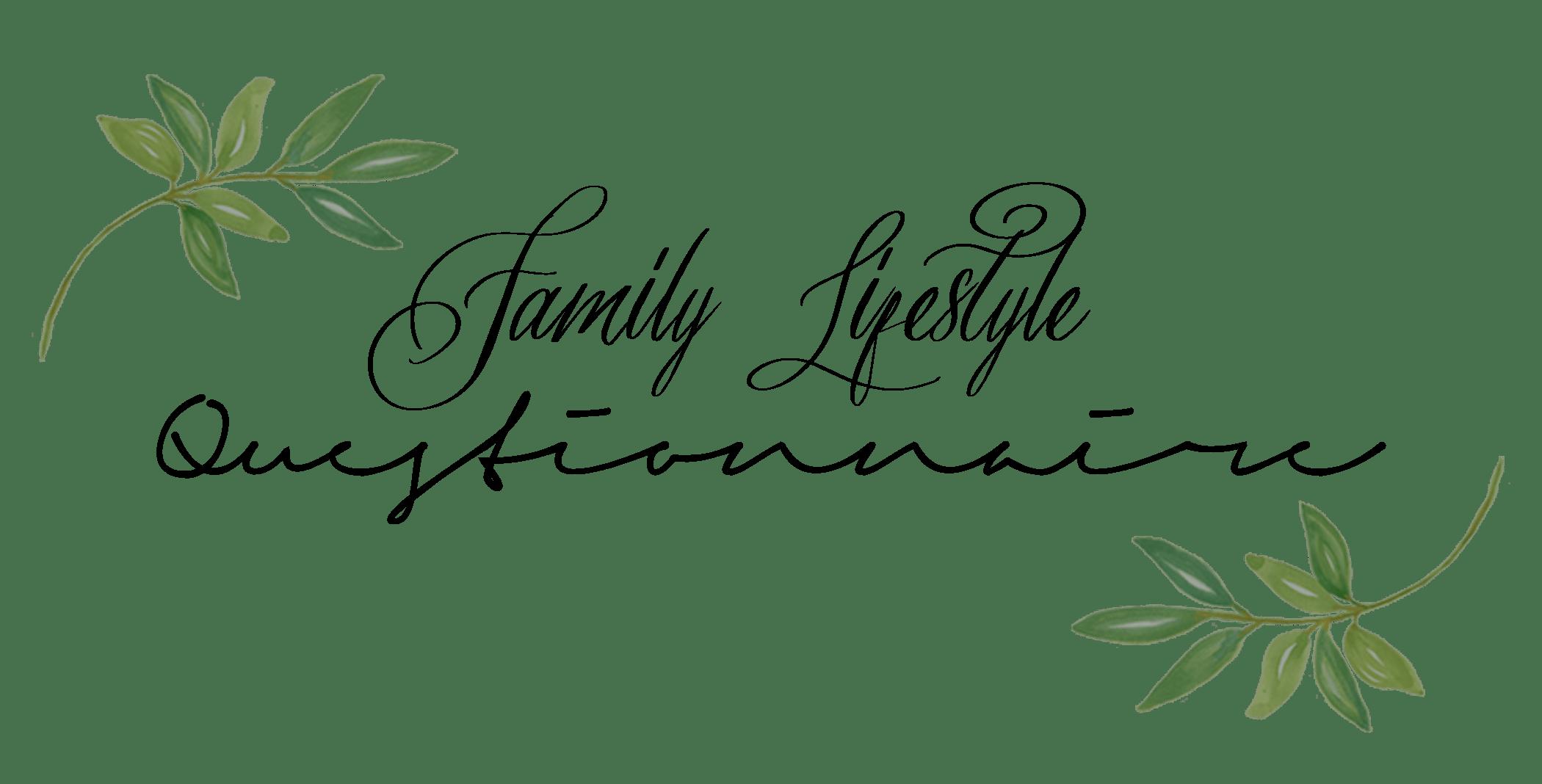 lifestylequestionnaire