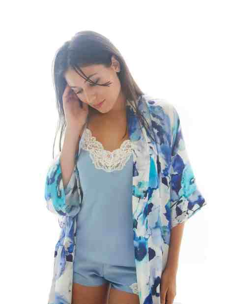 christine lingerie, silk cami and tap, cami and tap, silk robe, long robe, short robe, silk robe