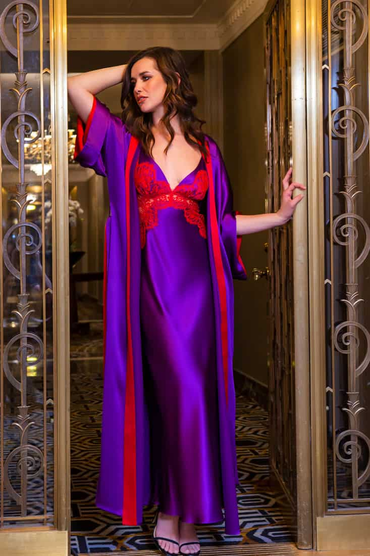 Moulin Rouge Silk Gown and Robe