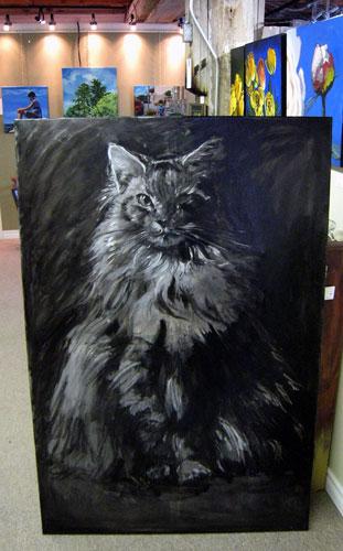 Kat schilderen in abstract met acrylverf  Tekenen en