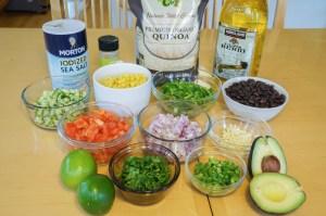 Ingredients for Quinoa Salad