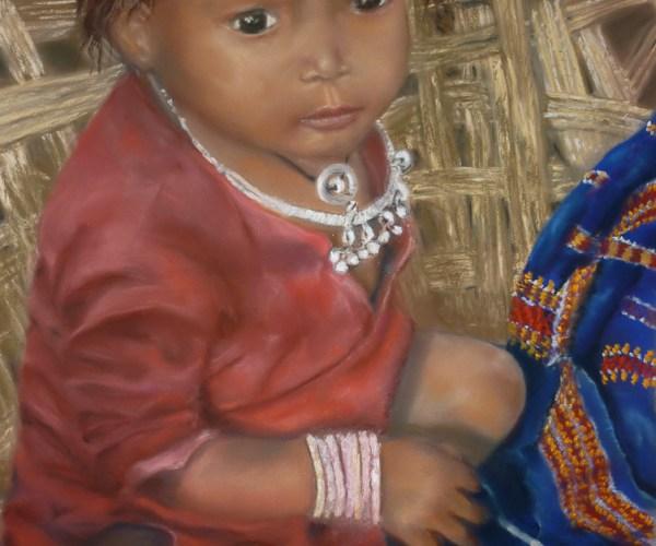 Petite Indie sur son Charpaï