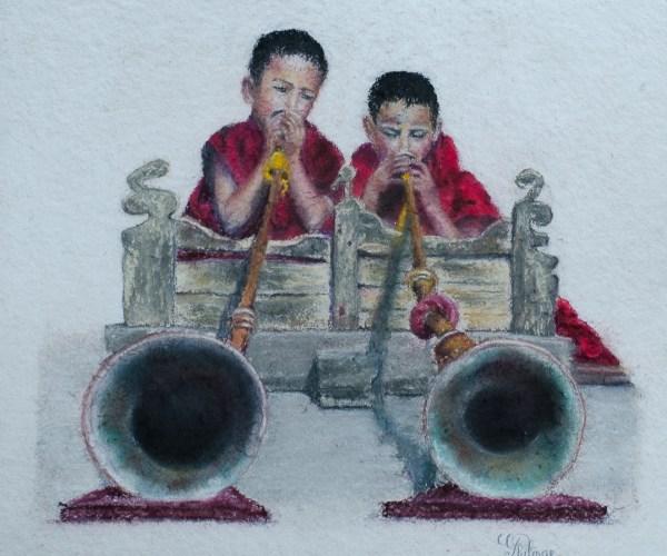 Enfants moines sonneurs