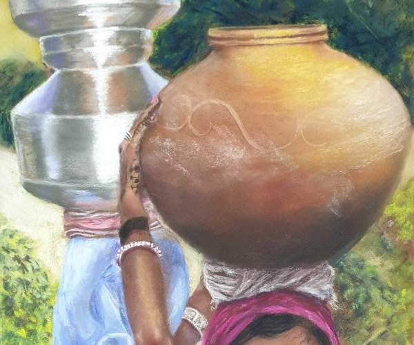Porteuses d'eau – Femme de l'Inde