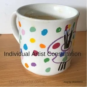 _Individual artist consultation_. Art-business with professional artist and trainer, Christine Porter