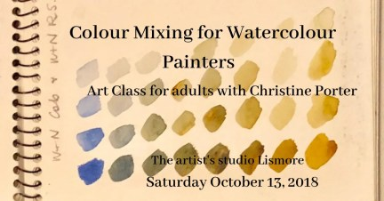Watercolour Workshop with Christine Porter - Colour mixing for Watercolour October2018