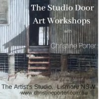 Studio Door Art workshops by Christine Porter at her home in LismoreNSW Australia. A variety of single day classes about watercolour, printmaking and art-business
