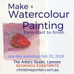 Title Make a watercolour painting from start to finish with small watercolour of strawberry.