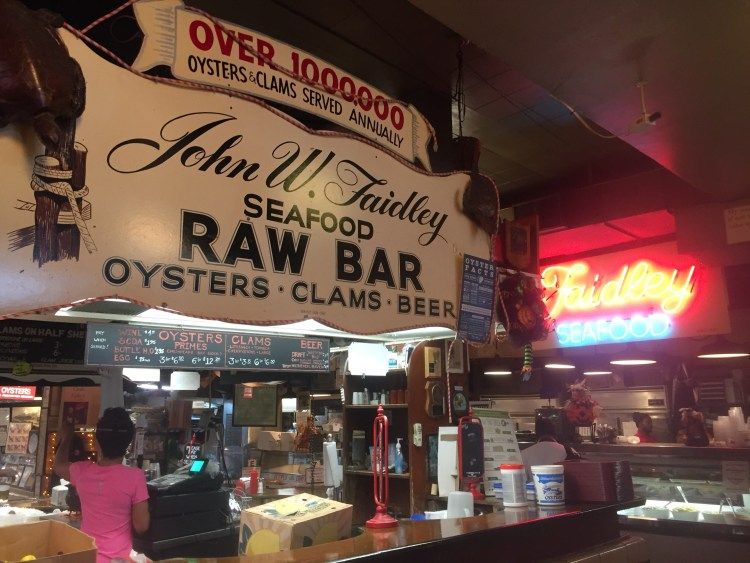 Baltimore Lexington Market Fadiley's crab cakes