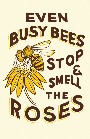 Even busy bees stop and smell the roses