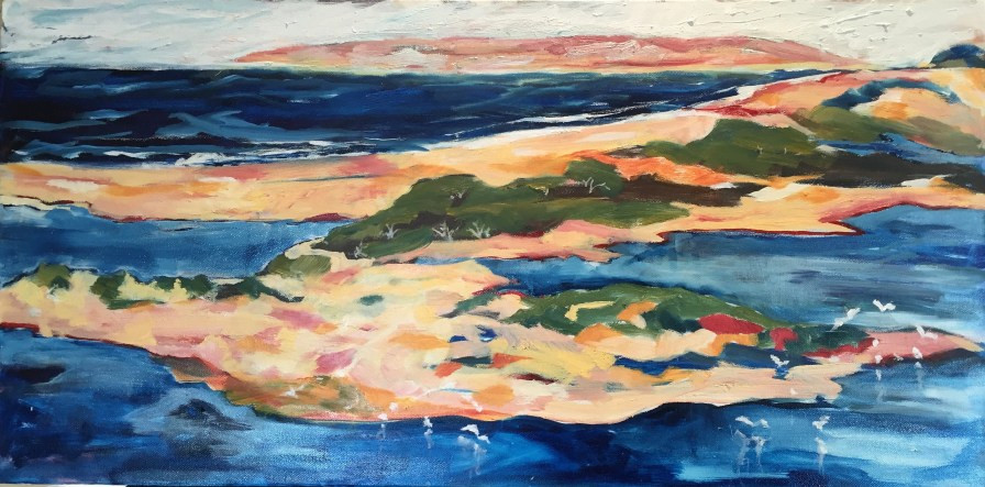 The Estuary, oil on canvas 46 x 92cm [SOLD]