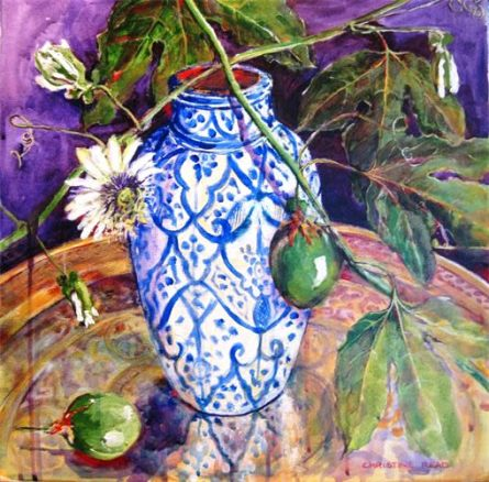 Moroccan Vase with Passionfruit