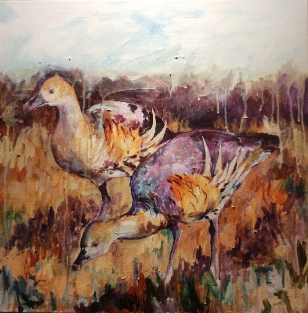 Whistling Ducks 60 x 60cm [SOLD]