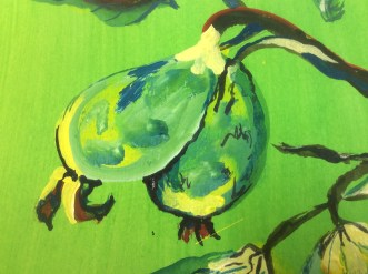 Brilliant green and yellow guavas by Mandy