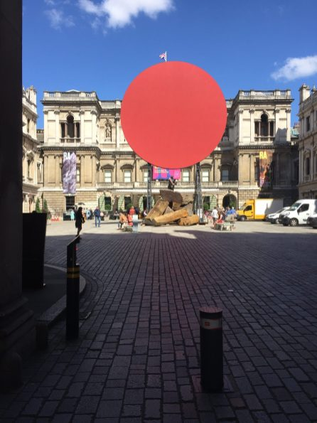 Anish Kapoor's work in the RA Courtyard