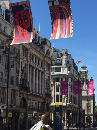 Piccadilly with Grayson Perry Flags