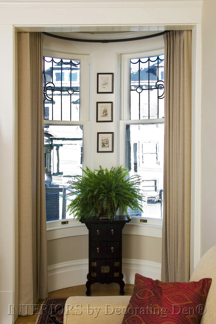 How to Decorate Bay Windows See these ideas for custom window treatments  Christine Ringenbach
