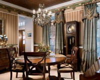 Custom window treatments give formal rooms the extra ...