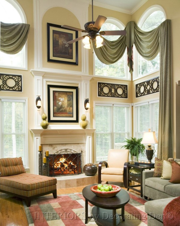 Decorating a Wall with Tall Ceiling