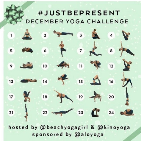 Just Be Present - December Yoga Challenge