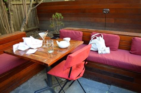 Pure Food and Wine Corner Seat