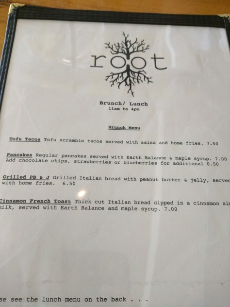 Root of Lancaster - Brunch Menu