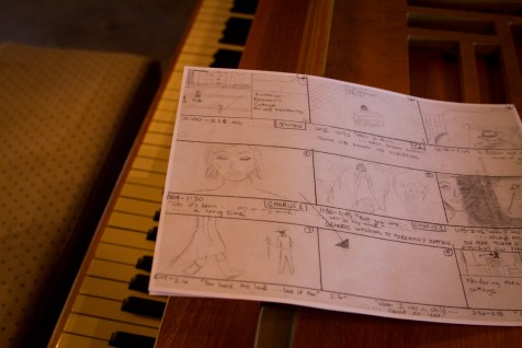 Behind the scenes storyboard of the Been A Long Time music video.