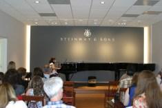 Christen Ntanios performing at Steinway & Sons Recital