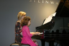 Zara Edler performing at Steinway & Sons Recital