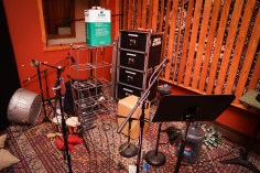 Percussion Room in the studio during the recording of the Been A Long Time album.