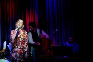Singer songwriter Christine Rosander performing at Hotel Cafe.