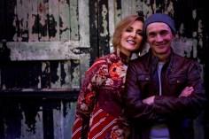 Singer songwriter Christine Rosander and guitarist Mick Taras.